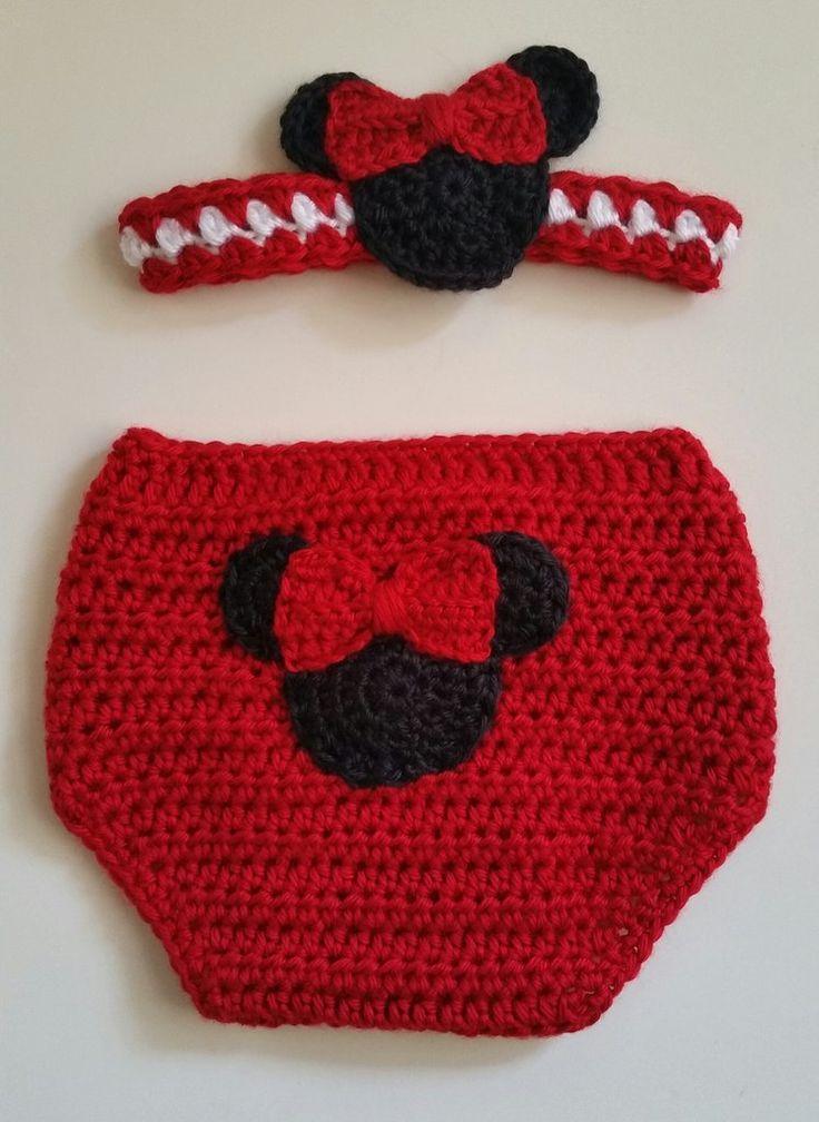 Gift Set Girl Mouse Diaper Cover & Headband Red 12 Mos | Pinterest ...