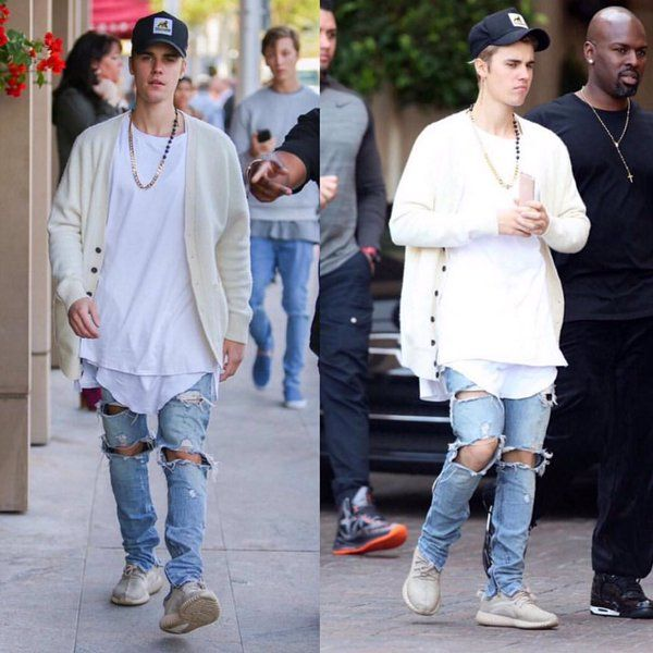 25adc6538a842 Justin Bieber on Yeezy Boost 350 l Follow us on Twitter  https