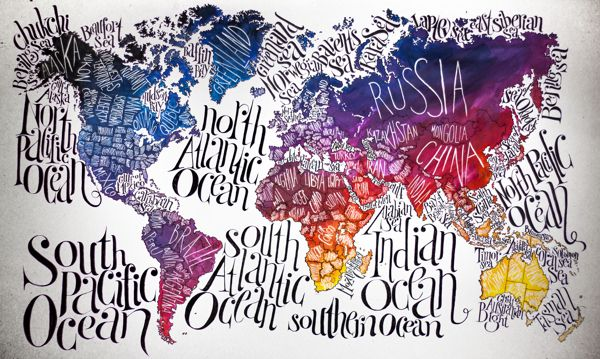 World map by valentina morianz via behance graphic design world map by valentina morianz via behance gumiabroncs Choice Image