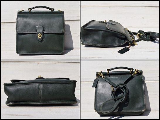 afb6609861d4 【中型】USA製オールドコーチウィリスバッグレザーバッグショルダーバッグ革鞄かばん
