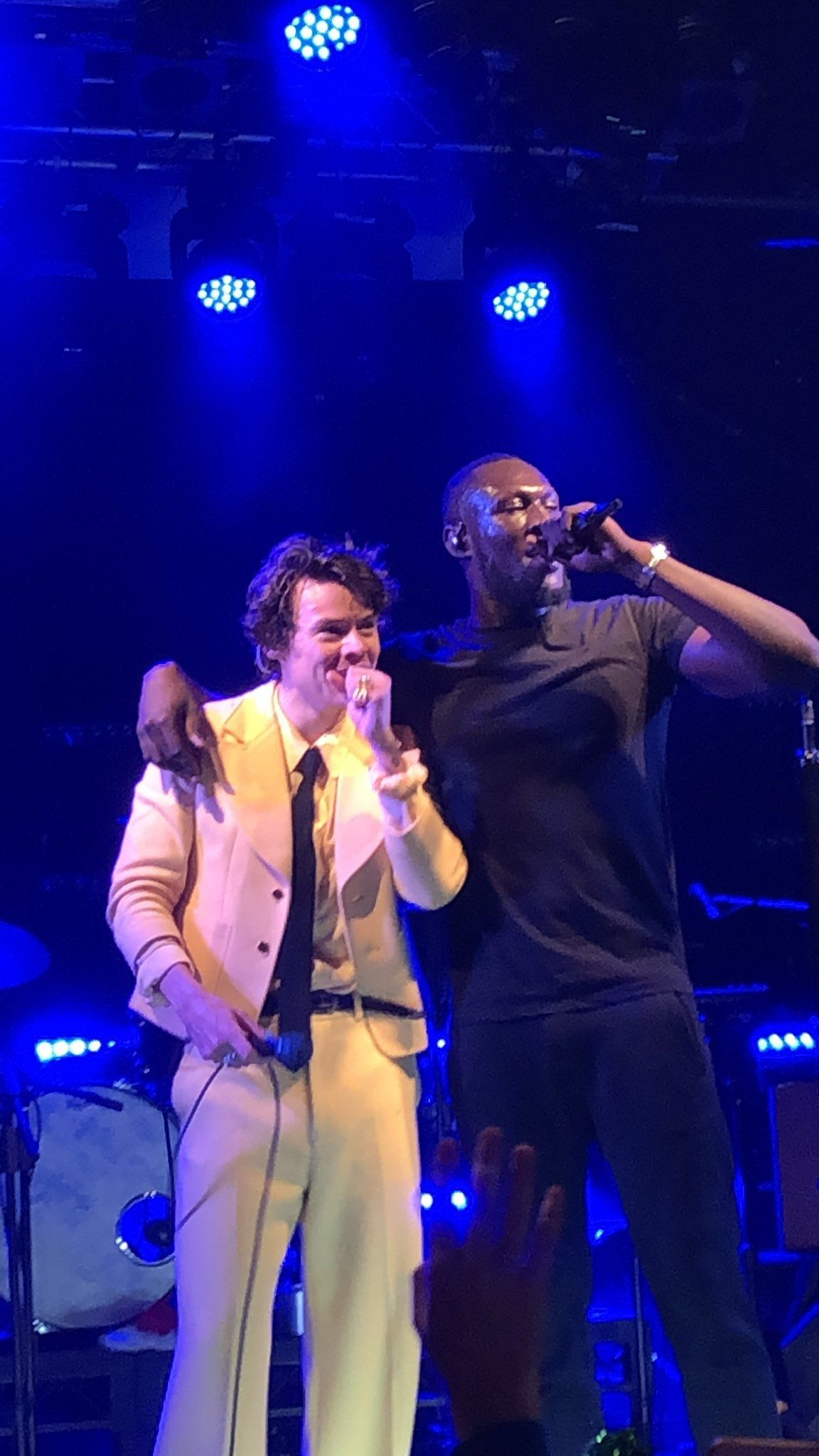 Harrystylesdaily Harry And Stormzy On Stage Harry Styles