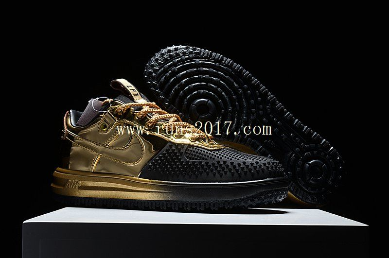 NIKE LUNAR FORCE 1 LOW DUCK BOOT Black Gold | Nike lunar