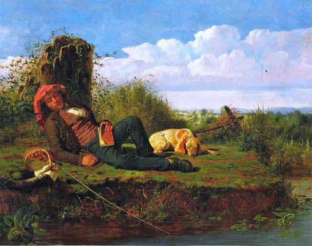 William Tylee Ranney (American artist, 1813-1857) The Lazy Fisherman