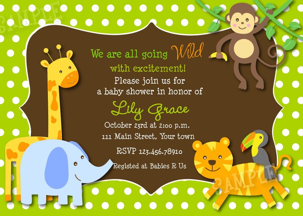 safari baby shower invitations feutro Pinterest Shower
