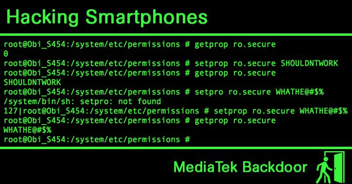A dangerous backdoor has been discovered in the MediaTek