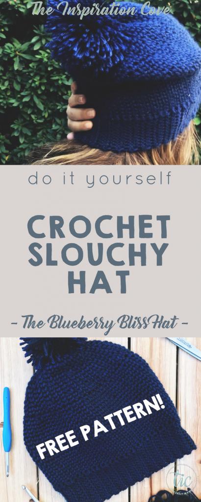 The Blueberry Bliss Crochet Slouchy Hat - DIY Free Crochet Hat ...