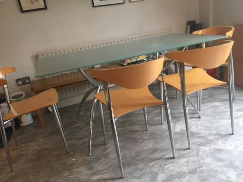 John Lewis Glass dining table and chairs - Low Start Price https://t.co/orsLUJkFZN https://t.co/DW1Ywq7sjJ