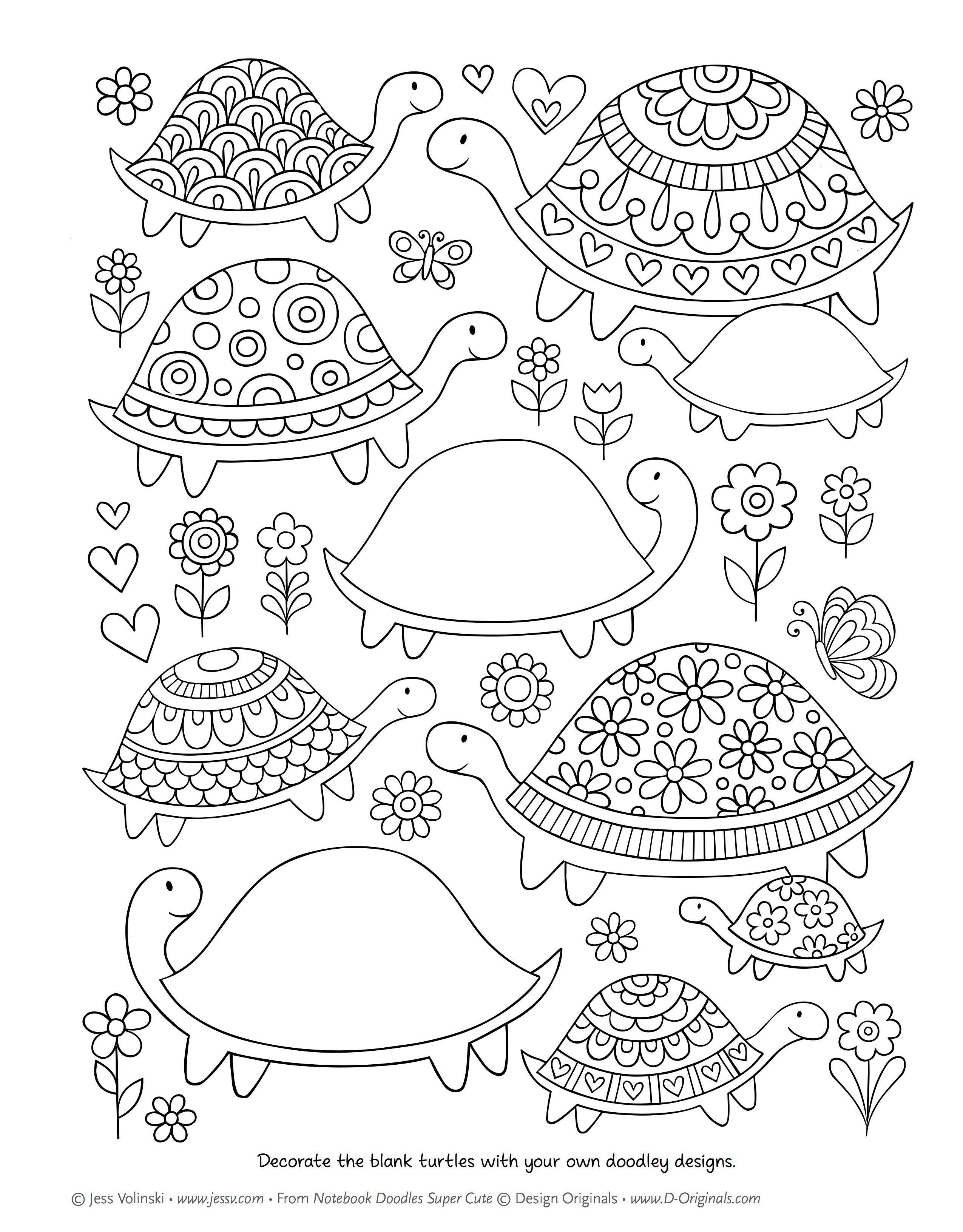Notebook Doodles Super Cute Coloring Amp Activity Book