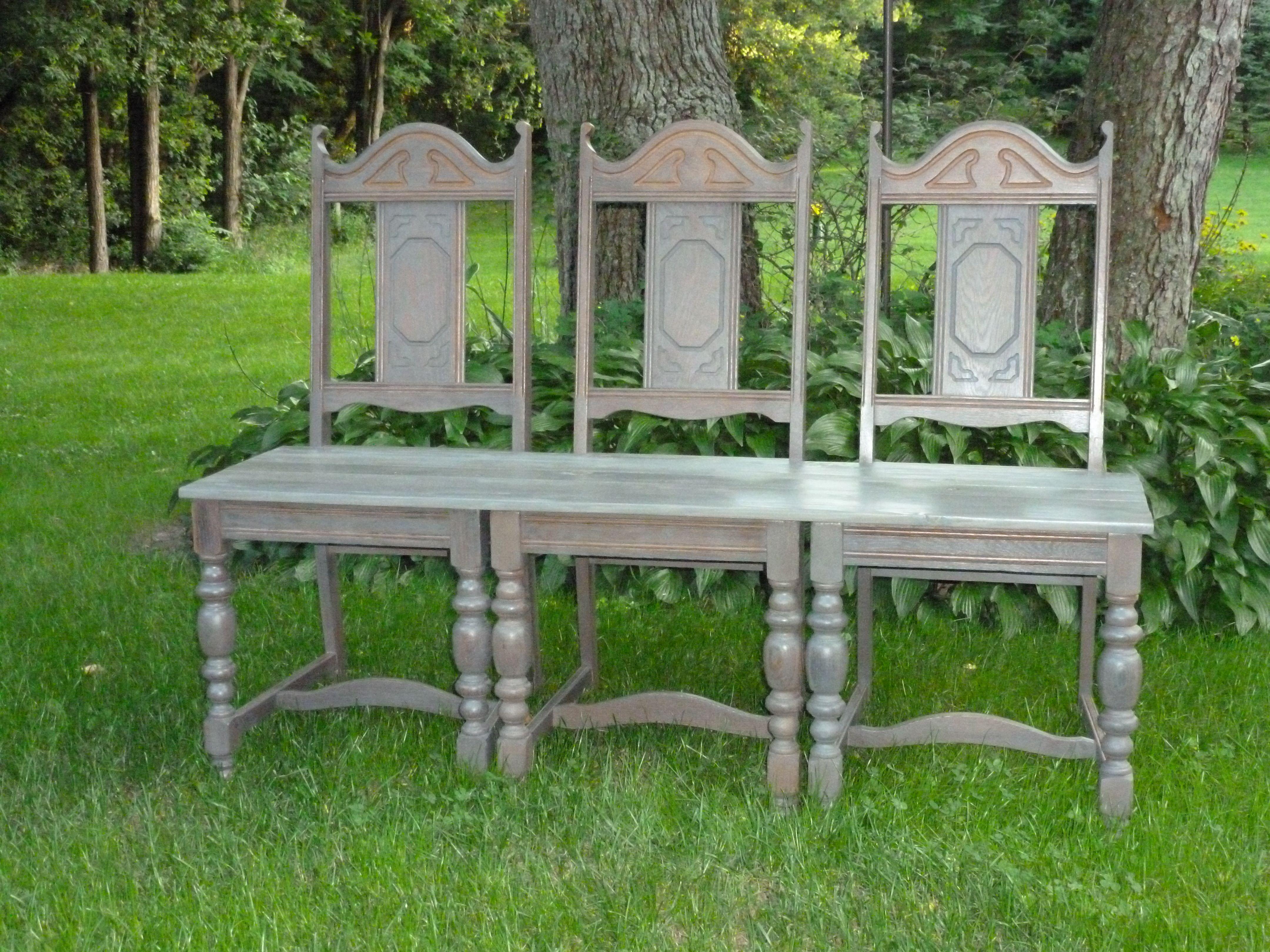 pinterest benches. 3 chair bench  Diana s DIY Den Treasure Showcase Facebook Pinterest