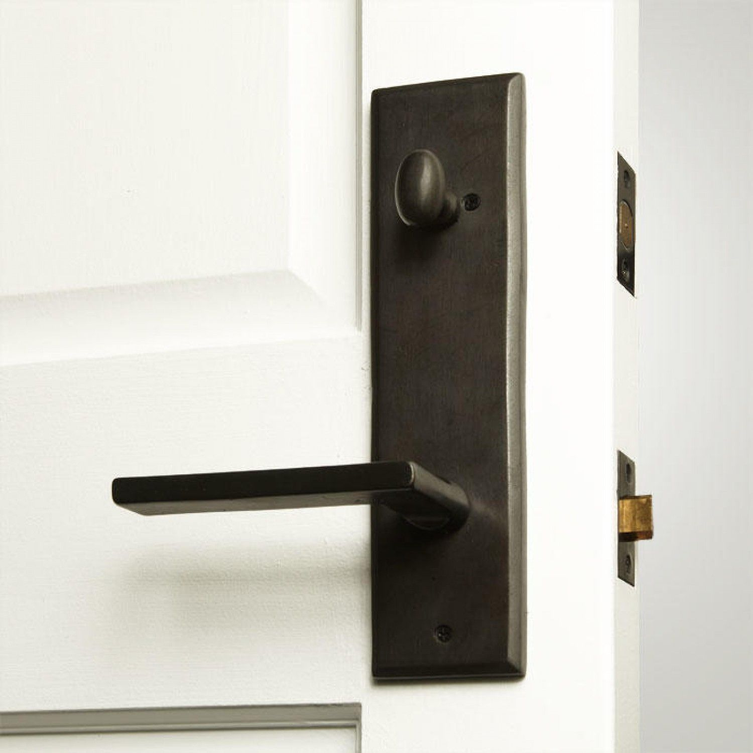 Hanover Solid Bronze Entrance Set With Lever Handle