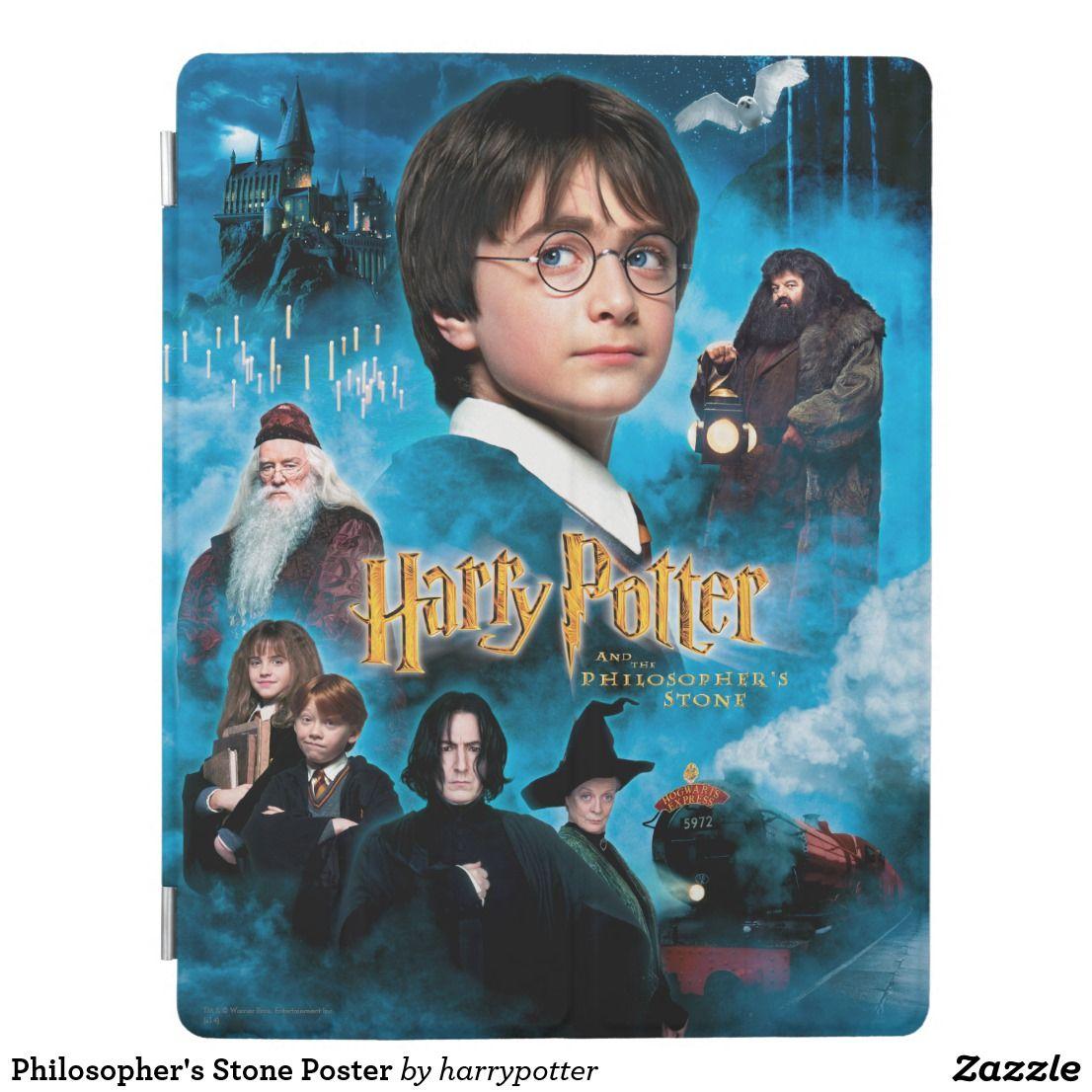 Philosopher S Stone Poster Ipad Smart Cover Zazzle Com Peliculas De Harry Potter Harry Potter Y La Piedra Filosofal Protagonista De Harry Potter