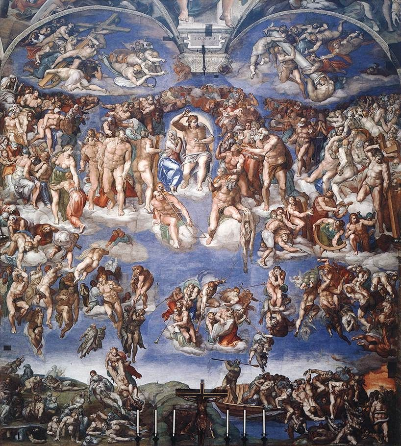 Last Judgment, Sistine Chapel, Rome, Italy