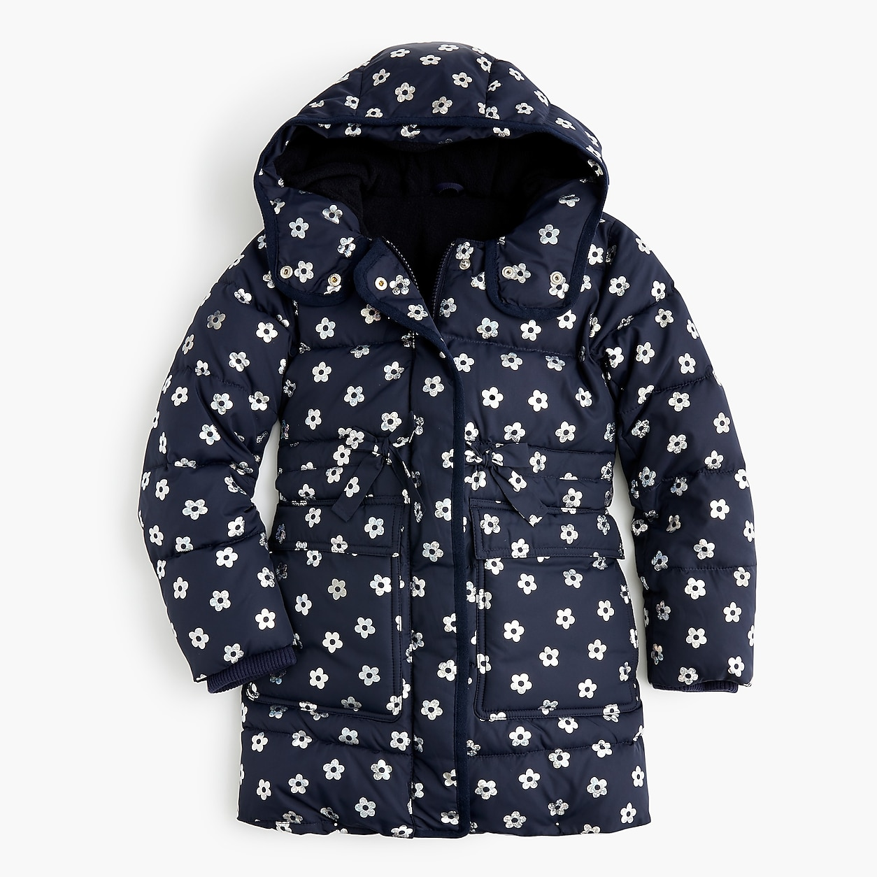 2fc50caa140b crewcuts Long Floral Puffer Coat With Eco-Friendly Primaloft ...