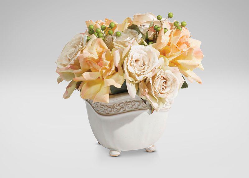 Cream Roses with Berries