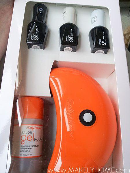 How to Do Gel Nails at Home-Sally Hansen Gel Polish Starter Kit ...