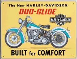 Harley-Davidson Duo-Glide | Harley-Davidson Tin Signs | 8000 Tin Signs for sale with Same Day Shipping | Tin Sign Factory