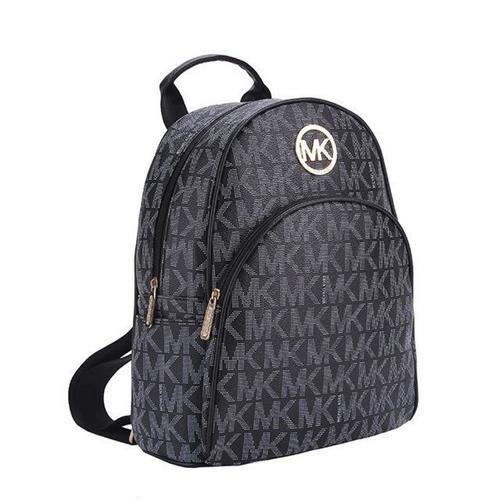 bfa1dc5ef837 MKWHEN.com Michael Kors Jet Set Travel Logo Small Black Backpacks ...