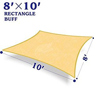 rectangle sun shade sail canopy for patio with d rings