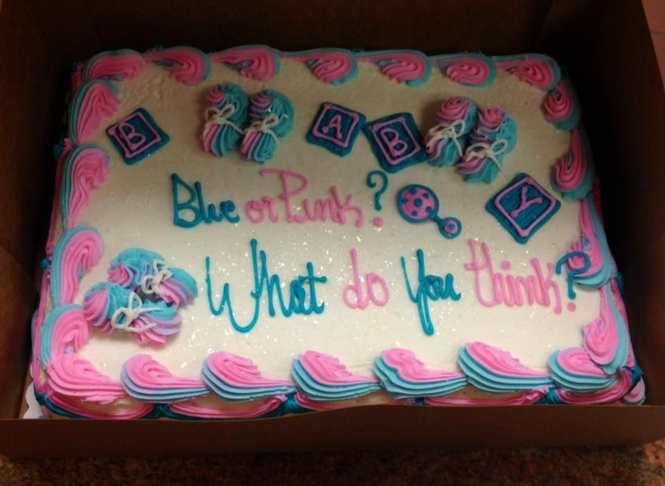 The Gender Reveal Cake That I Had Made For My Brother And Sister In Law Giant Eagle Gender Reveal Cake Gender Reveal Gender Reveal Party