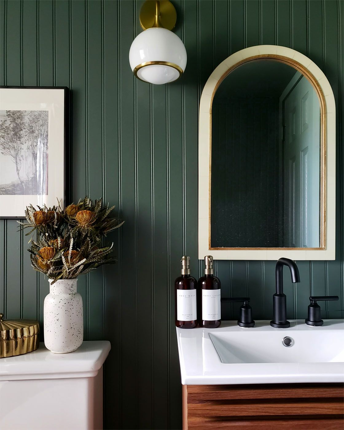 Bold Ideas For A Small Bathroom Remodel Clare In 2020 Small Bathroom Remodel Small Bathroom Paint Small Bathroom Paint Colors