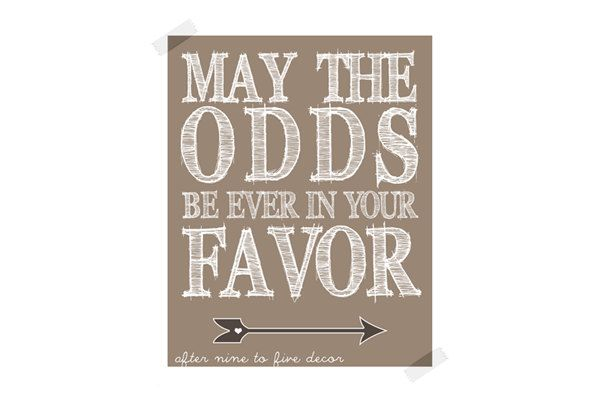 May the odds be ever in your favor hunger games diy canvas