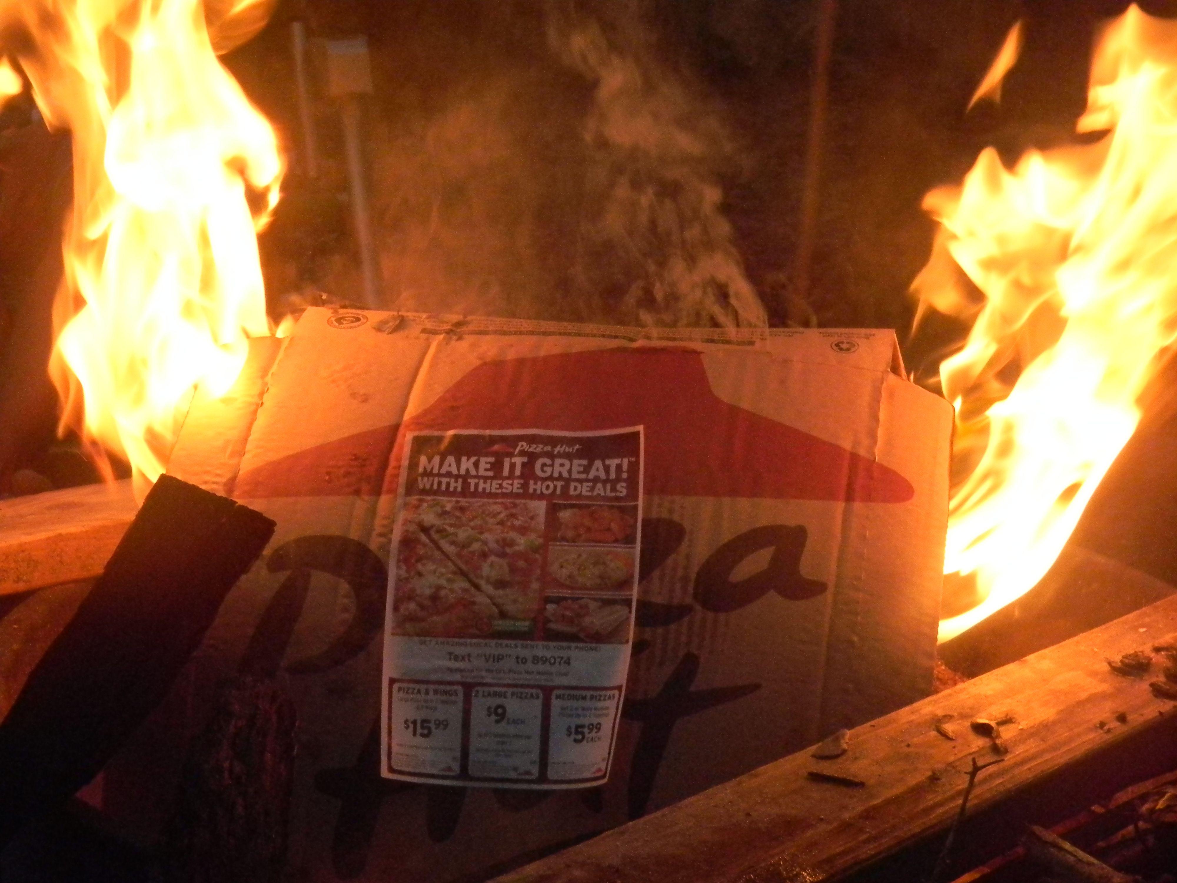 Pizza Hut box on fire graphy 3 Pinterest