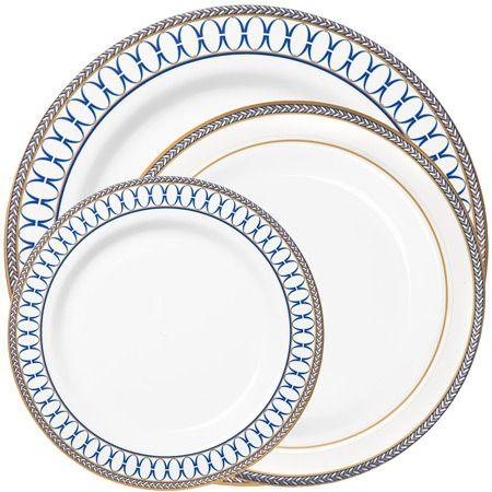 Plastic Buffet Plates - Plastic Plates - Disposable Dinnerware  sc 1 st  Pinterest & 1335 8.75 Renaissance Blue China-like Plastic Buffet Plates ...