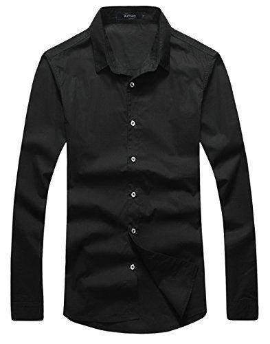 APTRO Men's Cotton Slim Fit Long Sleeve Casual Dress Shirt 5217 Black UK XXXL APTRO http://www.amazon.co.uk/dp/B015XJM776/ref=cm_sw_r_pi_dp_i-oywb1Y6X2FT