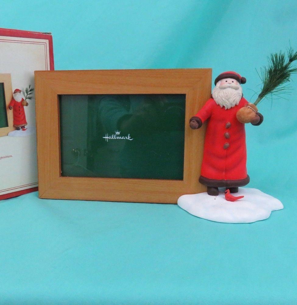 Hallmark Santa Picture Frame Christmas Tree Feeding Bird
