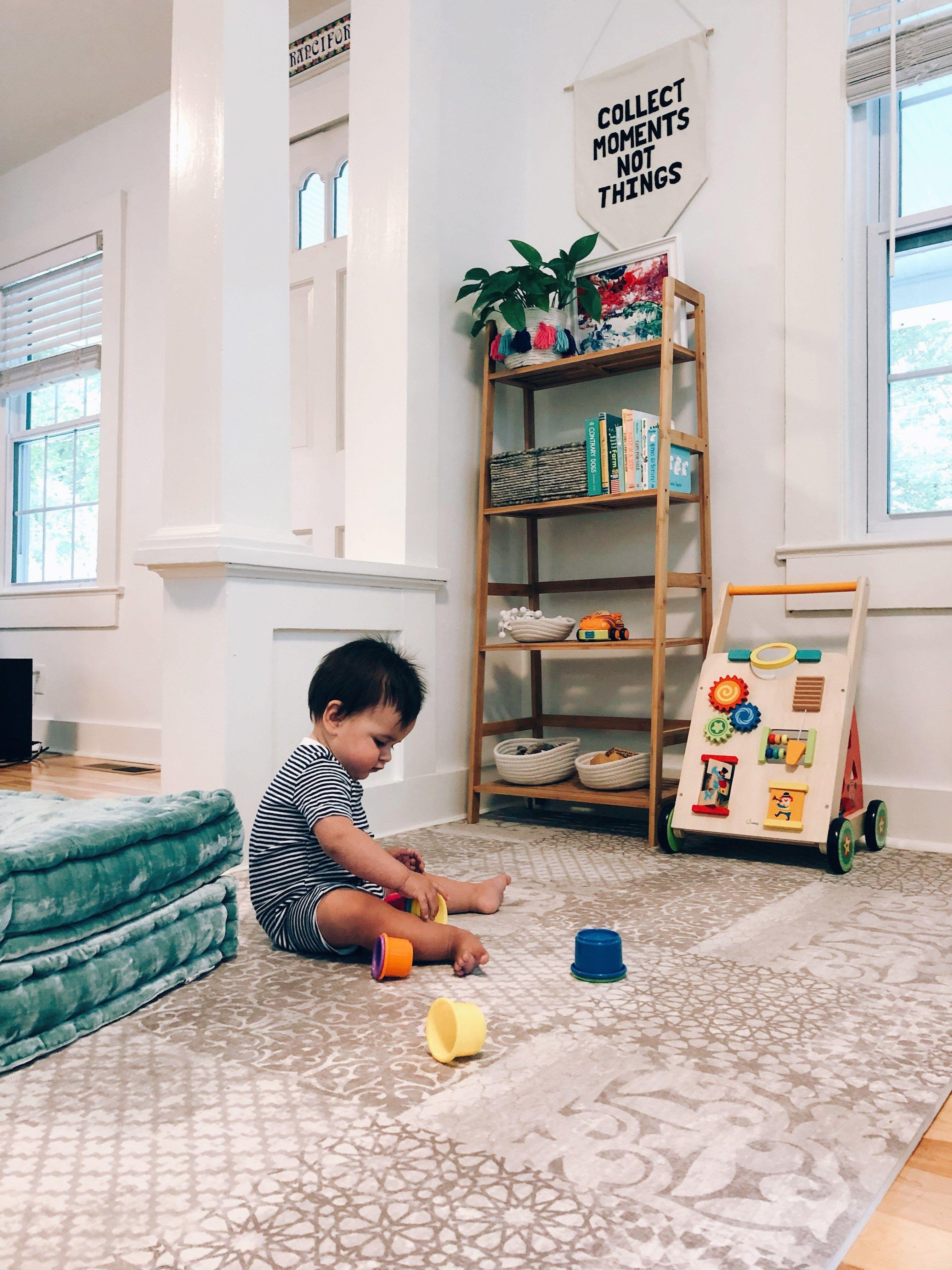 Baby Play Corner In Living Room Organization Ct Motherhood Blog Play Corner Living Room Organization Baby Play Areas #play #corner #in #living #room