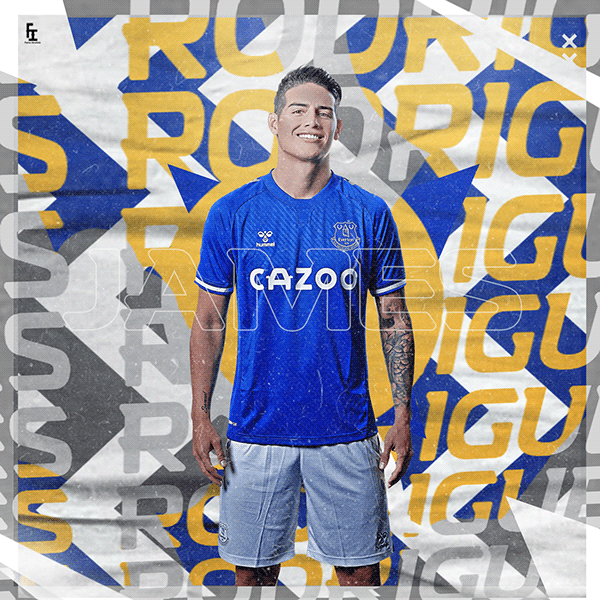 James Rodriguez To Everton On Behance In 2020 Sports Design Inspiration James Rodriguez Sports Graphic Design