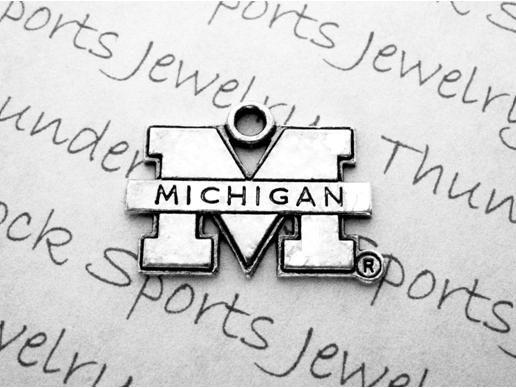 University of Michigan Wolverines Pewter Logo Charm