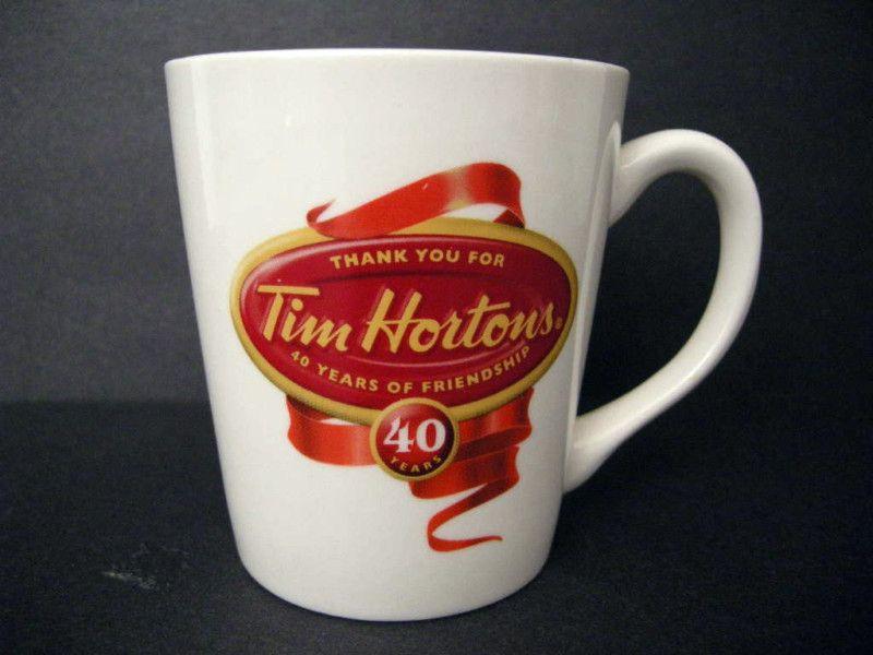 Tim Hortons Limited Edition 40th Anniversary Mug eBay