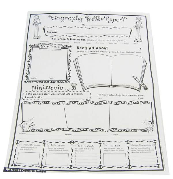 graphic organizer for writing a biography