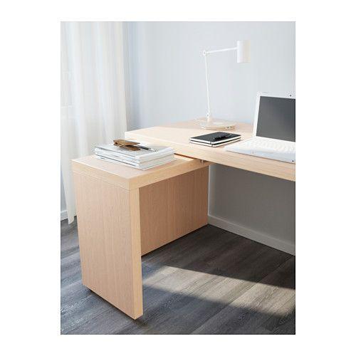Malm Bureau Avec Tablette Coulissante Brun Noir 151x65 Cm Ikea Boiserie Blanche Malm Tablettes Coulissantes