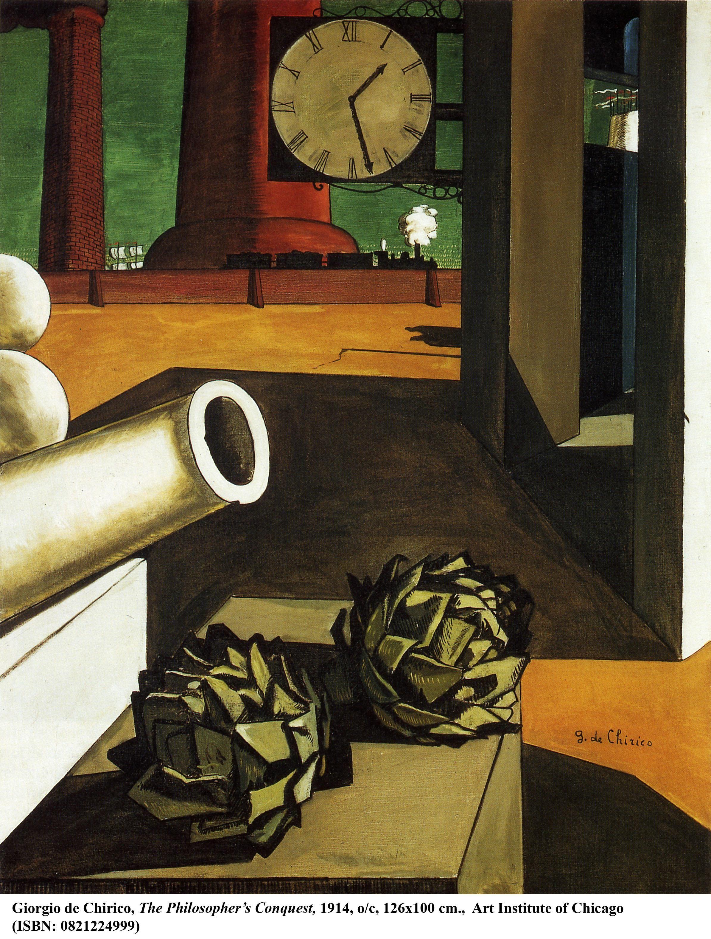 """Giorgio De Chirico """" Philosopher' Conquest"""" 1914"""