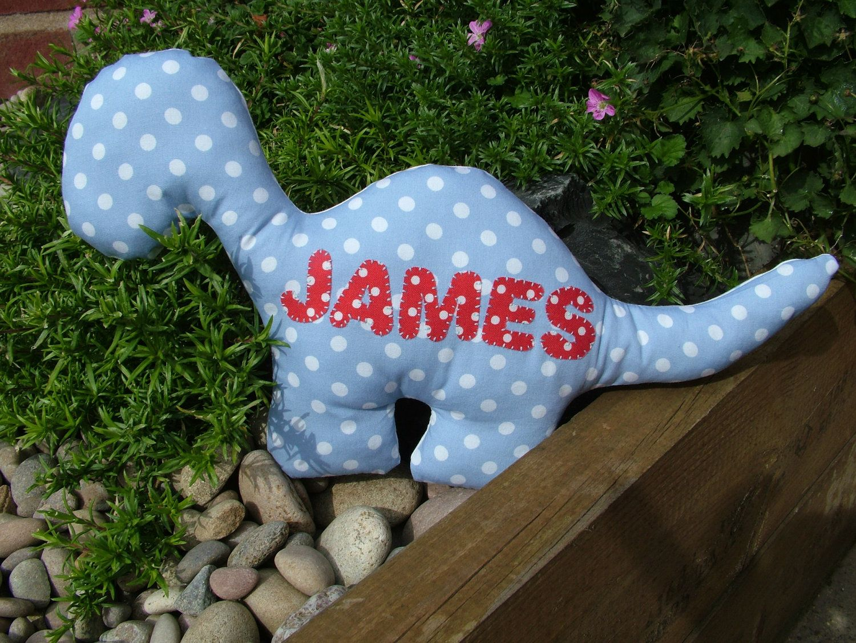 Personalised Animal Dinosaur Cushion By Craftybearuk On
