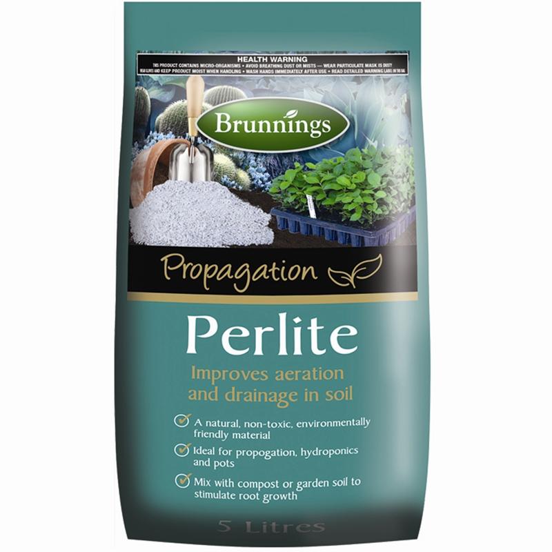 Brunnings 5L Perlite Potting Mix Hydroponics, Self