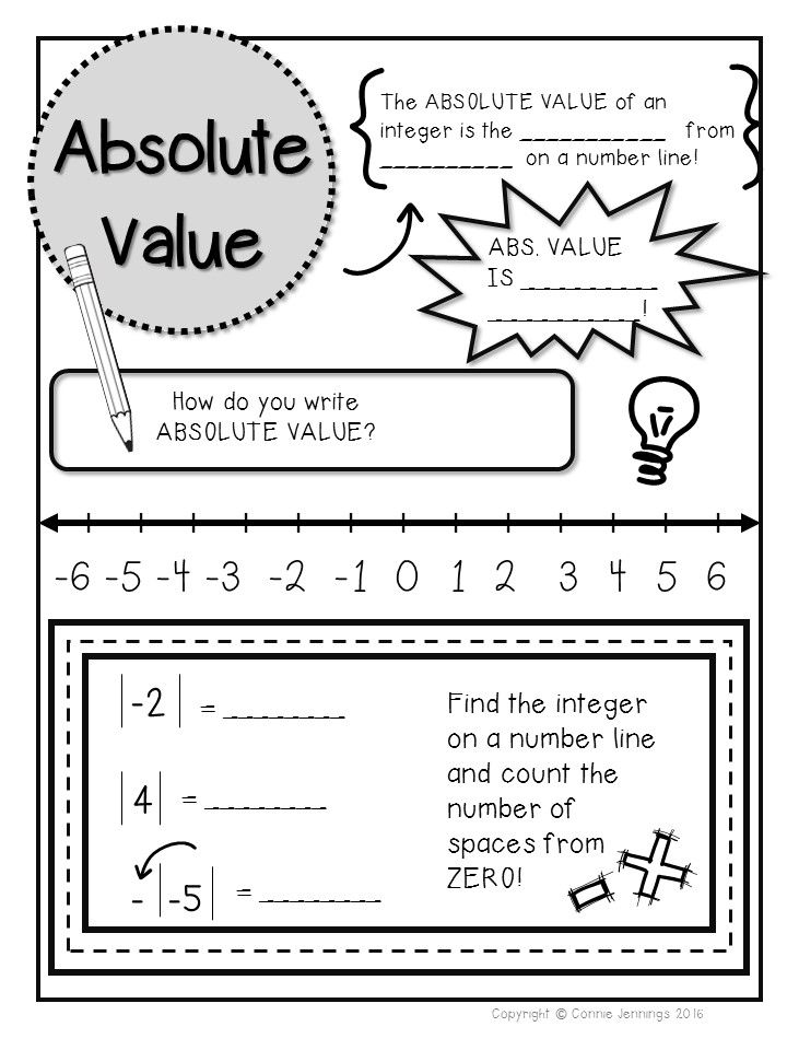 41+ Fancy absolute value worksheets 7th grade Useful