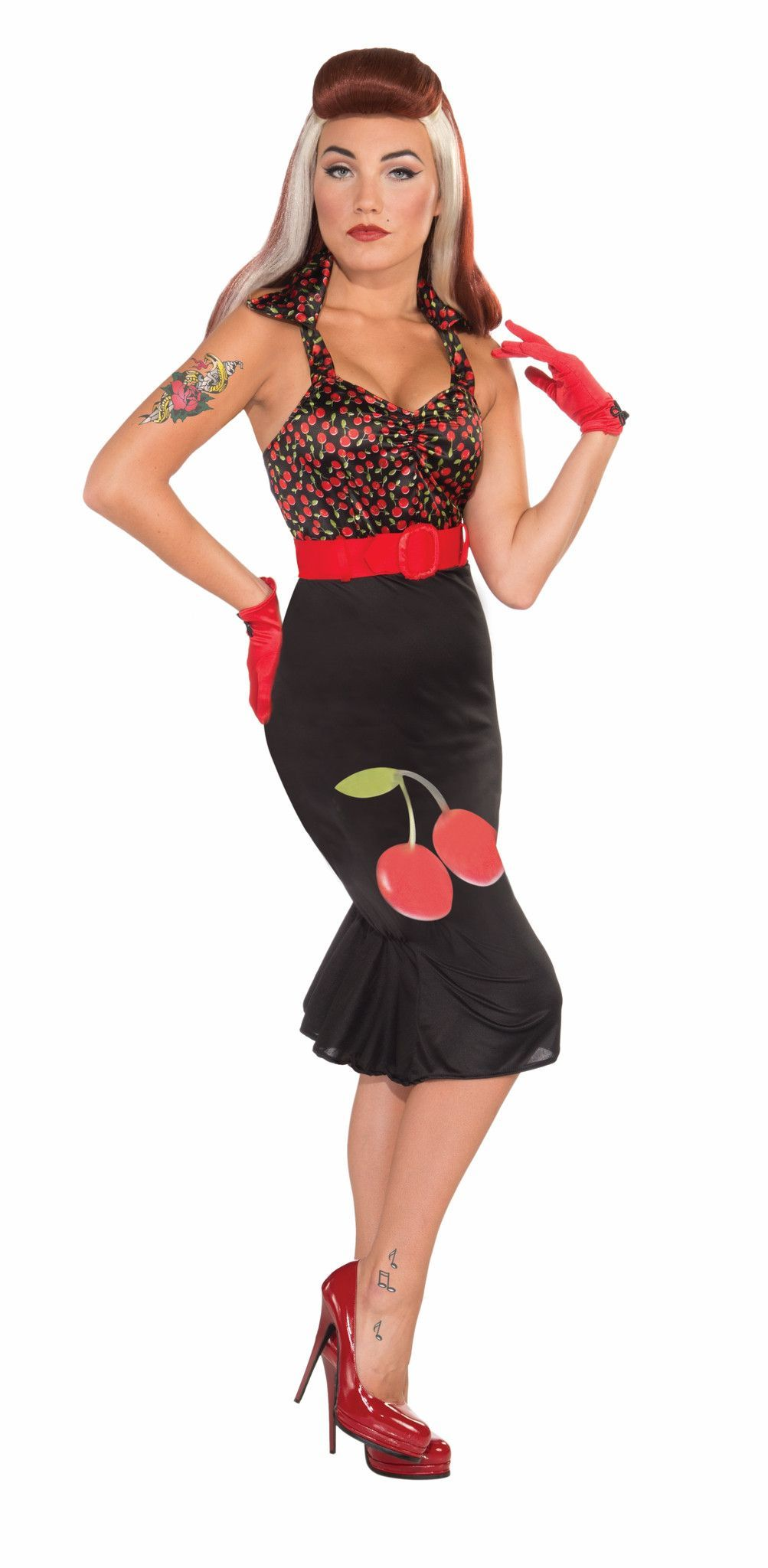 Retro pin up girl cherry anne costume dress adult rockabilly retro pin up girl cherry anne costume dress adult solutioingenieria Images