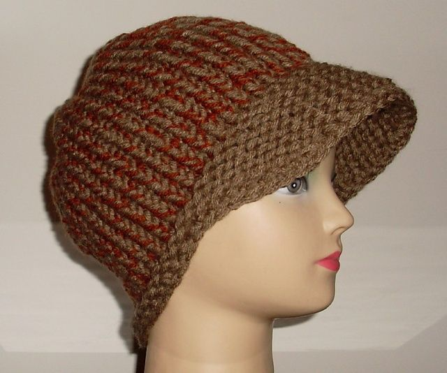 One Piece LOOM KNIT Newsboy Cap pattern by Tracey Waller ...
