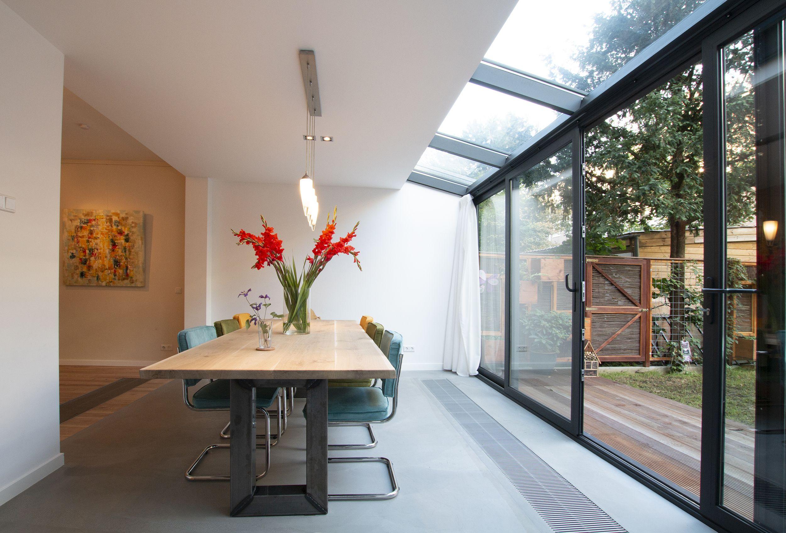 Aanbouw met glazen pui serre studioschaeffer b.v. het glas zorgt