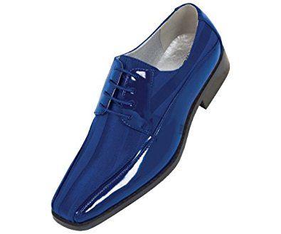 Royal blue shoes, Dress shoes men