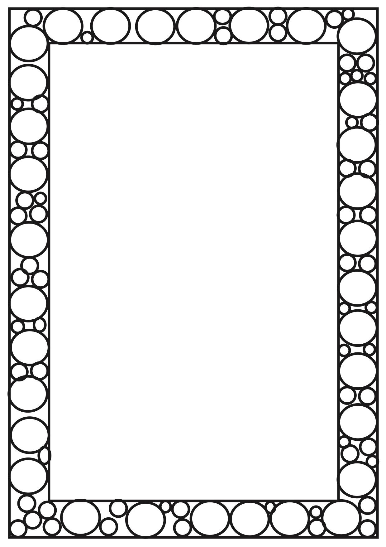 Worksheet Page Borders