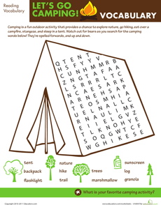 Let\'s Go Camping: Word Search