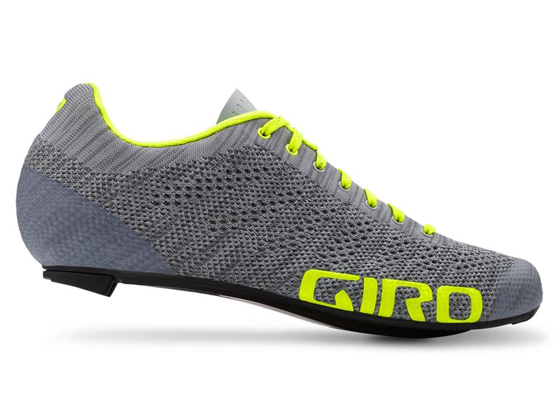 Buty Meskie Giro Empire E70 Knit Grey Heather Highlight Yellow Roz 41 5 Shoes Sport Shoes Gray Knits