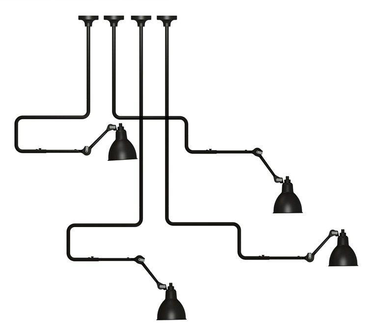 Design adjustable direct light steel ceiling light with