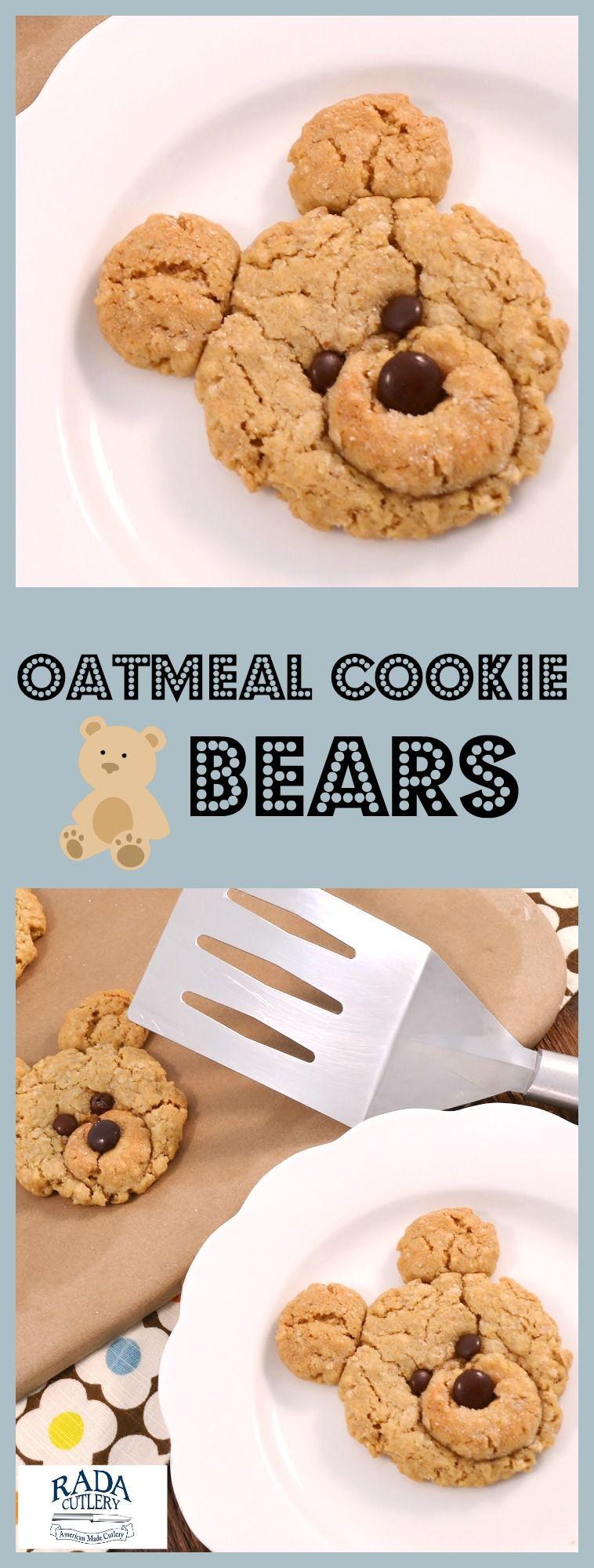 Oatmeal Bear Cookies Recipe Cute Oatmeal Cookies Recipe Cookie Recipes For Kids Bear Cookies Cookies For Kids