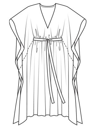Платье-кафтан | abiti veloci | Pinterest | Skizzen, Kleider und Nähen