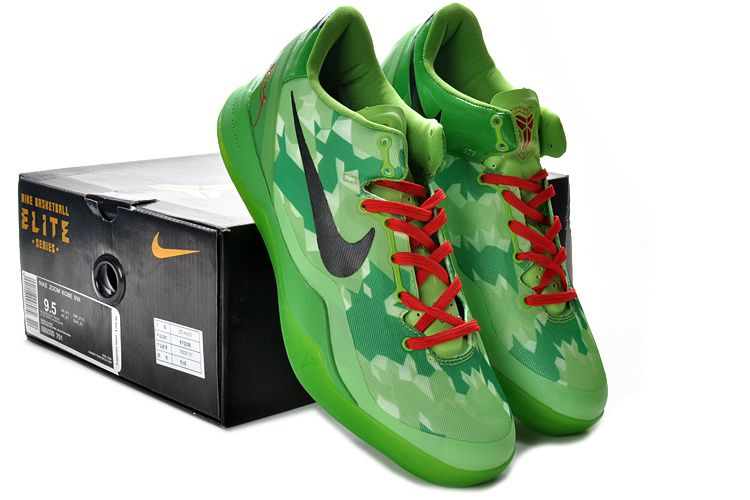 new styles 3f663 52ea4 Kobe Viii Shoes 2013 Elite Christmas Grinch Green Red Black 555035 701